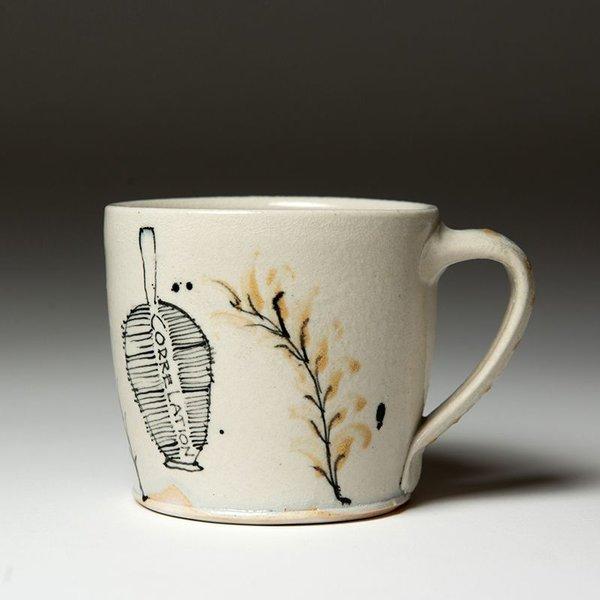 """Ted Saupe Ted Saupe,  Mug, earthenware, 3.25 x 4.5 x 3.5"""""""