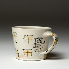 Ted Saupe Ted Saupe,  Mug, earthenware, 2.75 x 4.25 x 3.5""