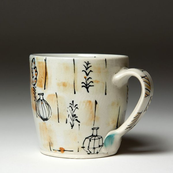 Ted Saupe Ted Saupe,  Mug, earthenware, 3.5 x 4.5 x 3.5""