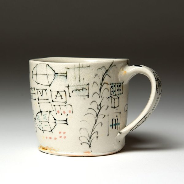 Ted Saupe Ted Saupe,  Mug, earthenware, 3.25 x 4.75 x 4""