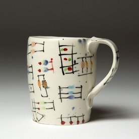 """Ted Saupe Ted Saupe,  Coffee Cup, earthenware, 3.75 x 4 x 3"""""""