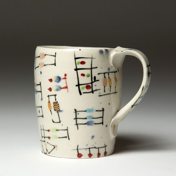 Ted Saupe Ted Saupe,  Coffee Cup, earthenware, 3.75 x 4 x 3""
