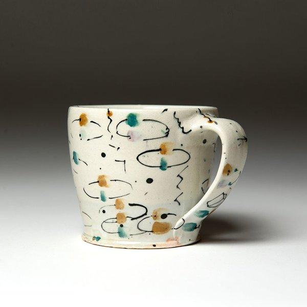 """Ted Saupe Ted Saupe,  Mug, earthenware, 3.25 x 4.75 x 3.5"""""""