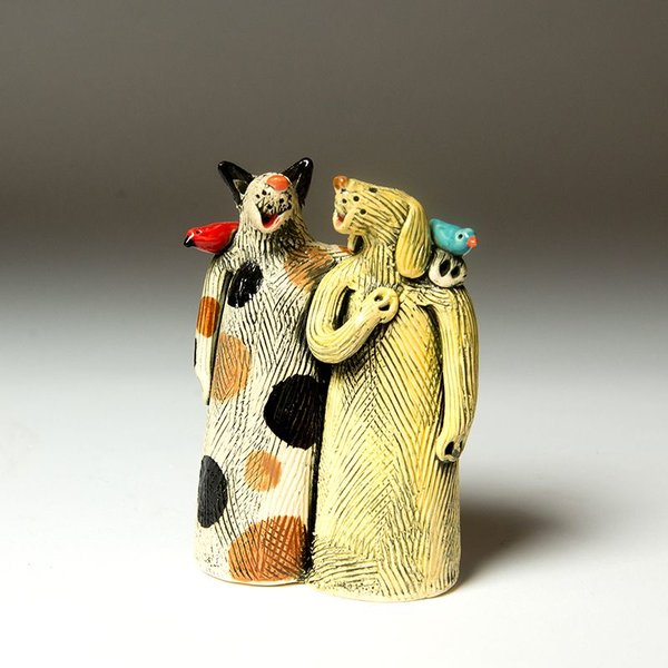 Barry Gregg Barry Gregg, Faithful Companions, handbuilt earthenware, glaze