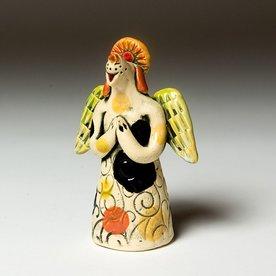 "Barry Gregg Barry Gregg, Angel Candle Sniffer, handbuilt earthenware, glaze, 4.75 x 4.25 x 2"""