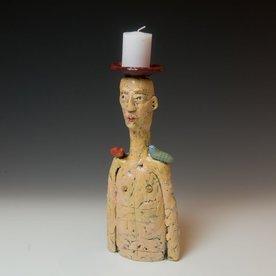 Barry Gregg Barry Gregg, Great Neck Candlestick, handbuilt earthenware, glaze