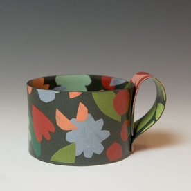 Lydia Johnson Lydia Johnson, Mug, hand built, double-sided color clay slabs, 2.75 x 4.75 x 3.5""