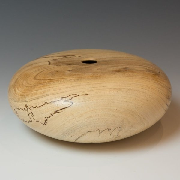 "Marc Granberry Marc Granberry, Spalted Pecan,  3.75 tall x 8.5"" dia"