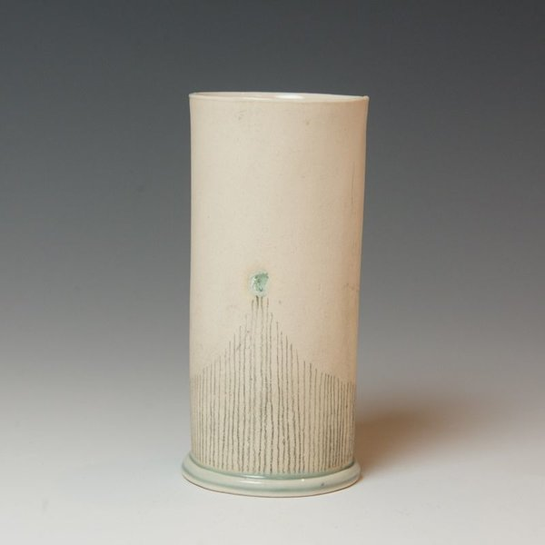 Annette Gates Annette Gates, Tall Tumbler, Porcelain, combined handbuilt and slip-cast elements, 5 x 2.25""