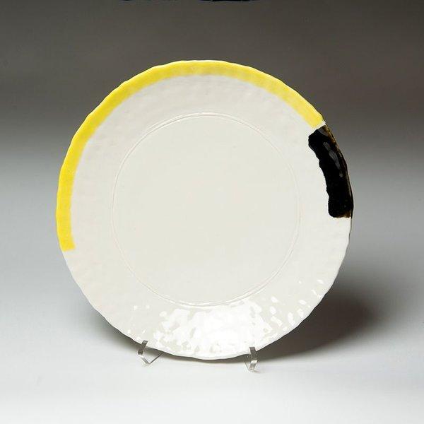 """David Eichelberger David Eichelberger, Lobed Platter, earthenware, glaze, 1.25 x 11.5 x 7.5"""""""