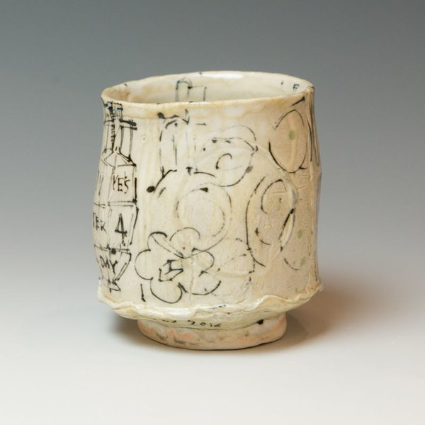 """Ted Saupe Ted Saupe, Yunomi, porcelain, 4 x 3.75 x 3.75"""""""