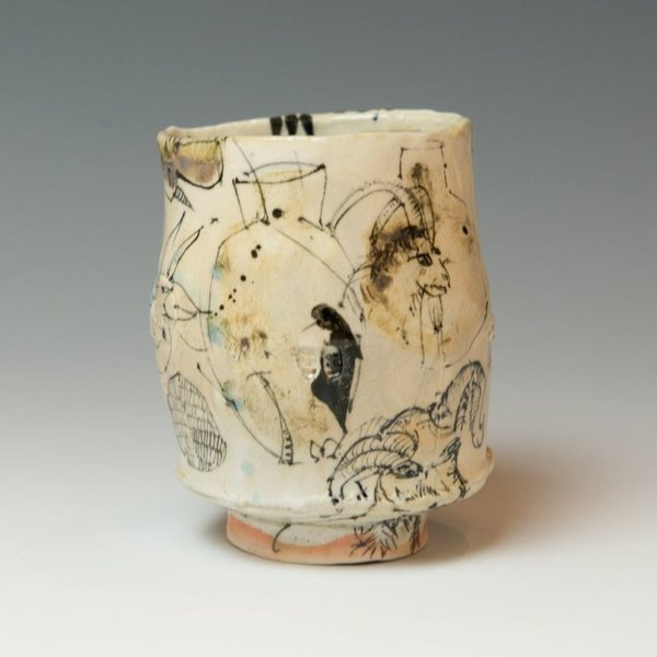 """Ted Saupe Ted Saupe, Yunomi, porcelain, 4 x 3.25 x 3.25"""""""