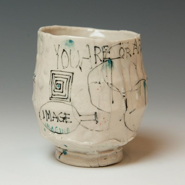 """Ted Saupe Ted Saupe, Yunomi, porcelain, 4 x 3.75 x 3.5"""""""