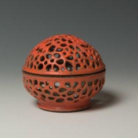 """Masa Sasaki Masa Sasaki, Tea Candle Jar, porcelain, glaze, 3.25 x 5"""""""