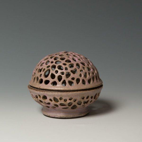 """Masa Sasaki Masa Sasaki, Tea Candle, black mountain clay, glaze, 3.25 x 3.5"""" dia"""