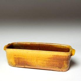 "Michael Simon Michael Simon, Rectangle Dish, stoneware, glaze, slip, salt-fired, 2.75 x 9.75 x 3.5"""