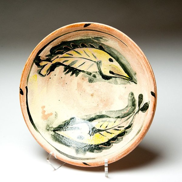 Ron Meyers, Bowl with Yellow Fish, 3 x 11""