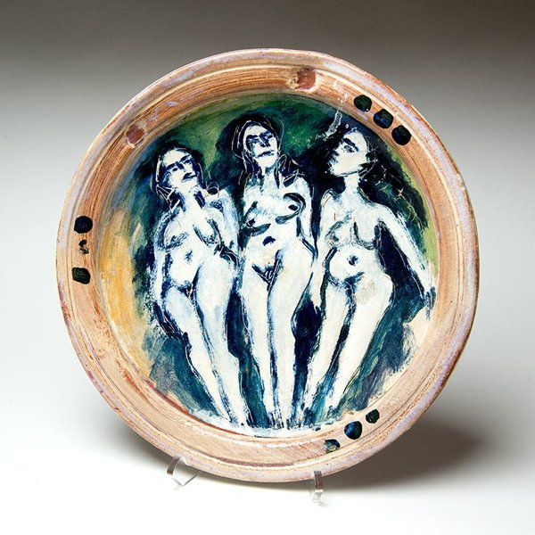 Ron Meyers, Platter with Three Graces, 12.25