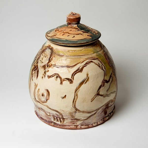 "Ron Meyers, Graces Bullet Jar,<br /> 14 x 11"" dia"