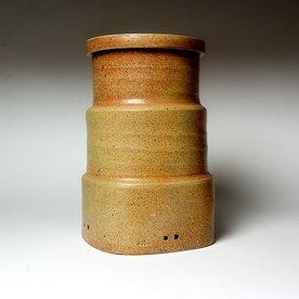 "Michael Simon Michael Simon, Persian Jar, stoneware, glaze, slip, salt-fired, 11.75 x 7.5 x 7.5"""
