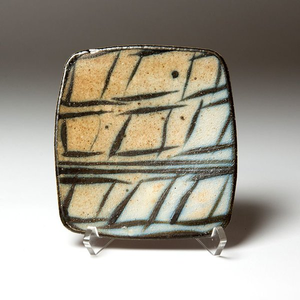 Michael Simon, Small Square Plate, earthenware, .75 x 6 x 6.5""