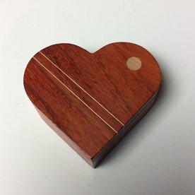 """Doug Pisik Doug Pisik, Heart Box, paduk, maple, 1.5 x 4 x 4.5"""""""