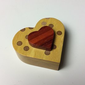 Doug Pisik Doug Pisik, Heart Box, various woods, 2 x 3.5 x 4""
