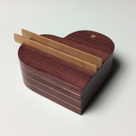 Doug Pisik Doug Pisik, Heart Box, purpleheart, maple, cherry, 2 x 4.5 x 4.5""