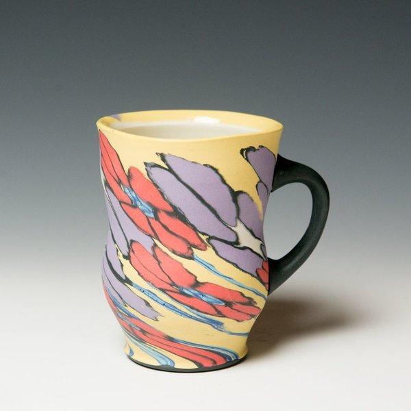 "Cory Brown Cory Brown, Mug, wheel-thrown inlayed porcelain, 5 x  4.75 x 3.75"""