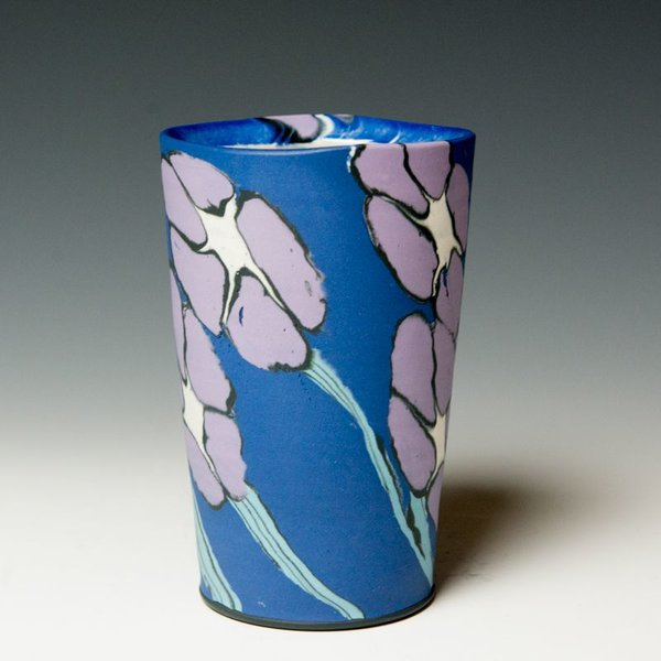 "Cory Brown Cory Brown, Cup, wheel-thrown inlayed porcelain, 5.75 x  3.75"" diameter"