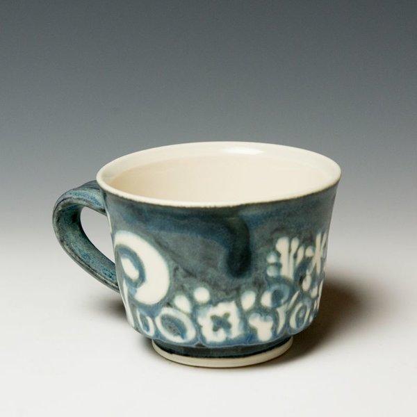 "Masa Sasaki Masa Sasaki, Shiro Kuro Mug, porcelain, glaze, 3 x 4 x 5"""