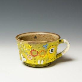 """Masa Sasaki Masa Sasaki, Alien Mug, black mountain clay, glaze, 3 x  4.5 x 5.5"""""""