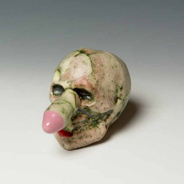 Tom Bartel Tom Bartel, Small Head with Pink Ended Nose 3.75x3x4.5""