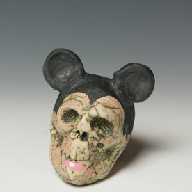 """Tom Bartel Tom Bartel, Mouse Skull (Black Ears) , 3.5 x 2.75 x 3.5"""""""