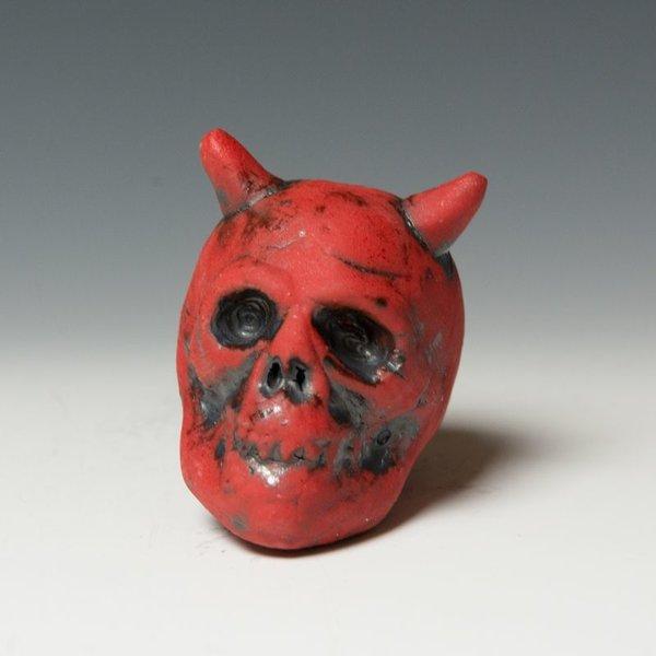 """Tom Bartel Tom Bartel, Red Devil Skull , 3.5 x 2.75 x 3."""""""