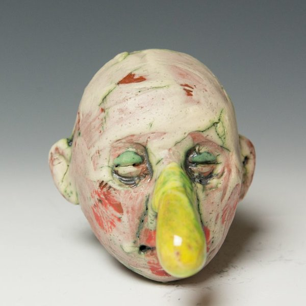 Tom Bartel Tom Bartel, Small Head (Yellow Nose) , 3.75 x 2 x 3.5""