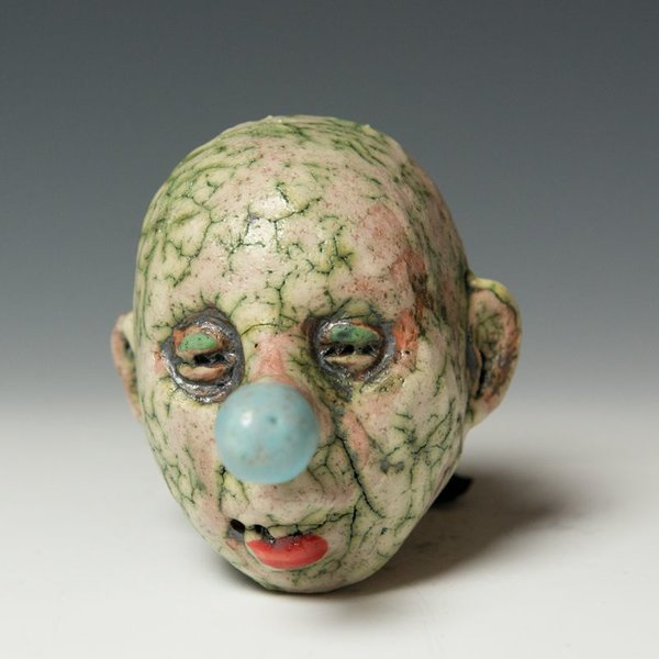Tom Bartel Tom Bartel, Small Head (Blue Nose) , 4 x 3 x 3.5""
