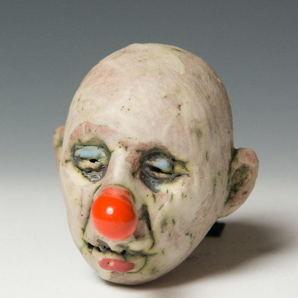 Tom Bartel Tom Bartel, Small Head (Orange Nose) , 4.25 x 3 x 3.75""