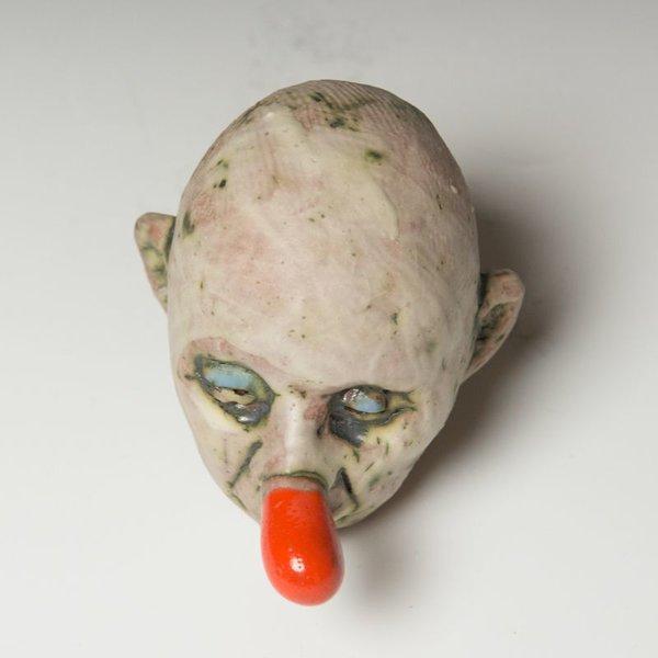 "Tom Bartel Tom Bartel, Small Head (Orange Nose) , 4.25 x 3 x 3.75"""