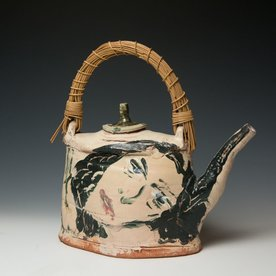 Ron Meyers, Teapot /Femme & Rat, earthenware, 13.5 x 13 x 5""