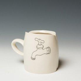 "David Eichelberger David Eichelberger, Mug, porcelain, glaze, iron oxide decal, 3 x 4 x 2.5"""