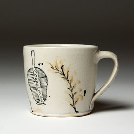 Ted Saupe Ted Saupe,  Mug, earthenware, 3.25 x 4.5 x 3.5""