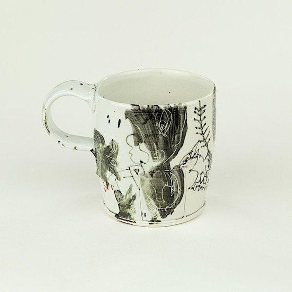 "Ted Saupe Ted Saupe,  Mug, porcelain, 3.75 x 4.25 x 3.25"""