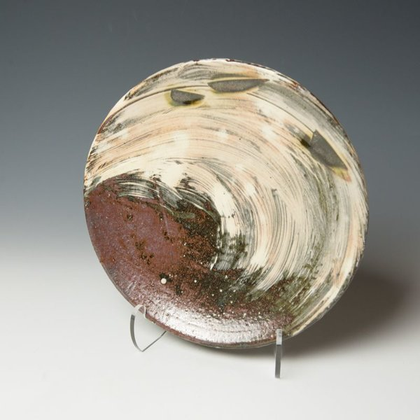 The Southern Table Michael Hunt & Naomi Dalglish, Dinner Plate, white slip, sgraffito, copper green