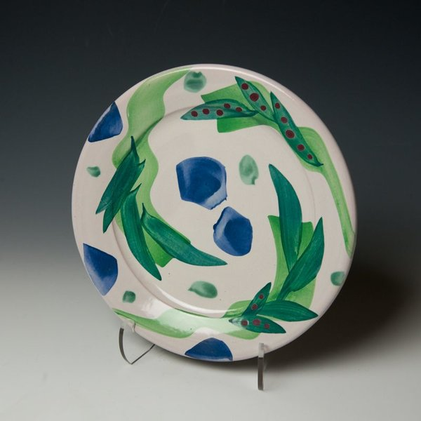 """The Southern Table Stan Andersen, Dinner Plate, earthenware, majolica, 10.5"""""""