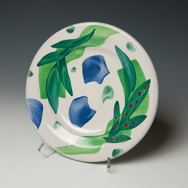 """The Southern Table Stan Andersen, Side Plate, earthenware, majolica, 8.25"""""""
