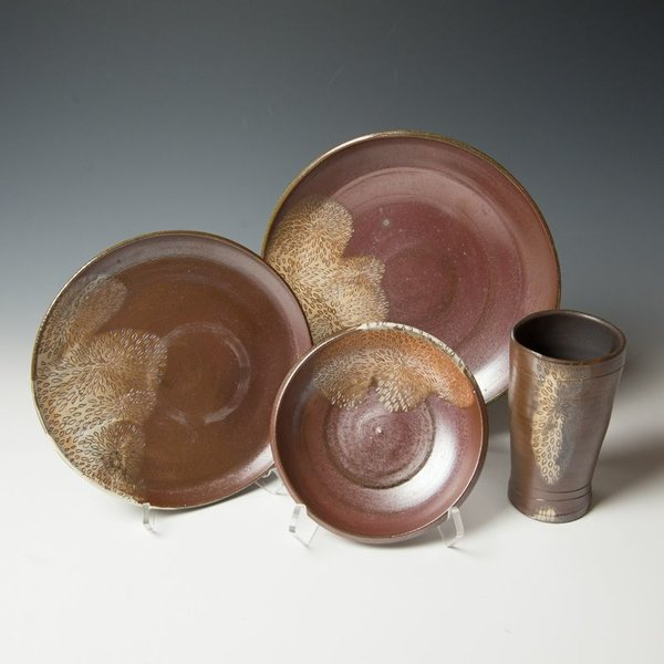 The Southern Table Susie Bowman, Tumbler, carved, soda-fired