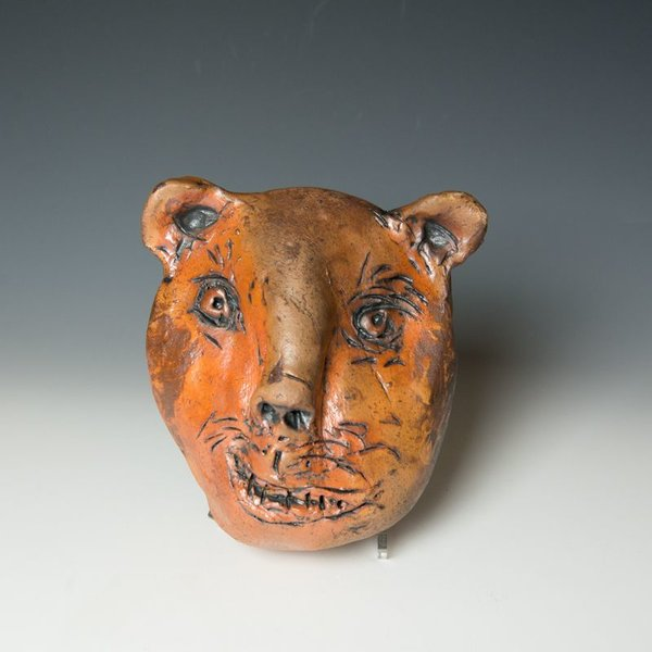 """Ron Meyers Ron Meyers, Bear Mask, 9 x 7 x 4.5"""" <br /> <br /> <br /> <br /> <br /> Platter, 3 x 21.5 x 9.5"""""""