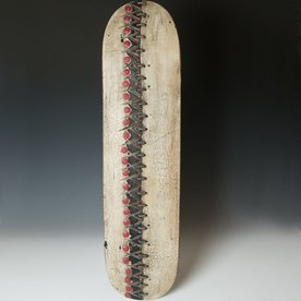 George Peterson George Peterson, Lingo, recycled skateboards, waxed linen, 30 x 8.5 x 2""