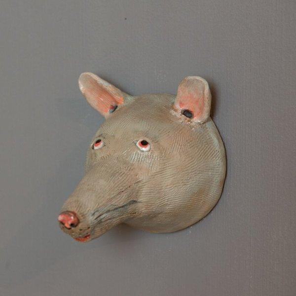"""Barry Gregg Barry Gregg, Red Fox, handbuilt earthenware, glaze, 5.25 x 4.25 x 5.25"""""""